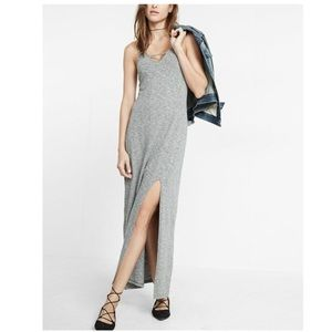Express Heathered Cut-Out Front Maxi Dress
